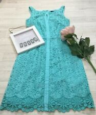 Coast Sz 8 Mint Green Lace Effect Pencil Dress Occasion