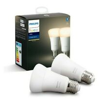 Philips Hue White E27 Edison Screw Twin/Two/2 Pack LED Smart Bulbs Bluetooth
