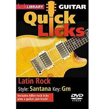Lick Library Guitar Quick Licks Latin Rock Learn to Play Guitar DVD RDR0235