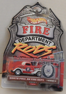 3-Window '34 Ford Coupe Real Rider Hot Wheels Fire Department Rods North Pole AK