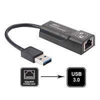 USB 2.0/3.0 to 10/100/1000 Mbps RJ45 Gigabit Ethernet LAN Wired Network Adapter