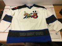 Walt Disney World Hockey Jersey 08 Size XL Mickey Mouse Goofy Pluto Donald Duck