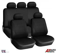 UNIVERSAL CAR SEAT COVER SET (9 Pieces) Black LIGHT Washable & Airbag Compatible