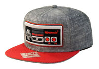 Nintendo Classic NES Controller - Snapback Hat, Gray and Red, One Size