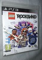 Lego Rock Band Sony PlayStation 3 game from 2009 pegi 7 build a band and rock