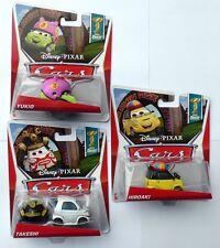 Disney Pixar Cars YUKIO TAKESHI HIROAKI  Super Chase Set X3 Very Rare UK !!