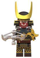Warrior Japanese Samurai Emperor Soldier Custom Lego Mini Figure Ancient History