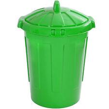 Large 80L 80 Litre Kitchen Home Rubbish Plastic Bin Storage Dustbin Colour GREEN