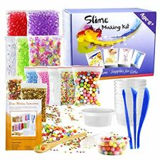 Pllieay 15 Pack Making Kit Supplies for Slime including Foam Balls, Fishbowl Bea
