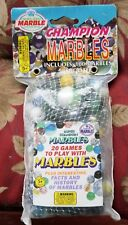 Vintage Sealed Bag 100 Marbles 2 Shooters Instruction Booklet Free Priority Ship