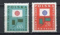 35673) Poland 1959 MNH Stamp Day 2v Scott #873/74