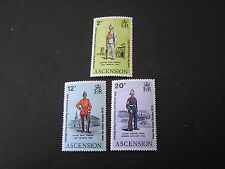 ASCENSION IS. SCOTT # 173+175/172, TOTAL 3 1973 50TH ANNIV ROYAL MARINES  MNH