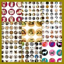 100 Precut assorted CATS and KITTENS BOTTLE CAP IMAGES Variety 1 inch circles