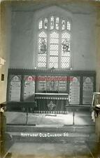 REAL PHOTOGRAPHIC POSTCARD OF HEYTHROP CHURCH NEAR CHIPPING NORTON, OXFORDSHIRE