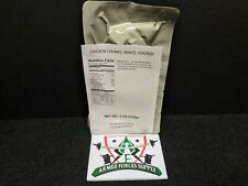 MILITARY MRE ENTREE WHITE CHICKEN CHUNKS SURVIVAL EMERGENCY FOOD RATION SURVIVAL