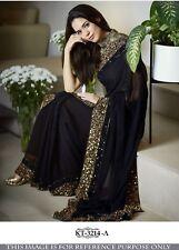 Designer Saree Wedding Bollywood Party Wear Beautiful Royal Sari With Blouse