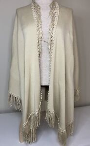 Coldwater Creek Women's One-Size-Fits-All Beige Fringed Shawl