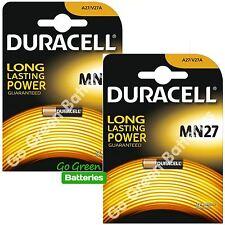 2 x Duracell MN27 A27 12 V Batería Alcalina 27 A GP27A V27A E27A EL812 mandos a distancia