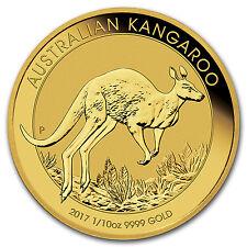 2017 Australia 1/10 oz Gold Kangaroo BU - SKU #102646