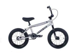 "2022 CULT JUVENILE 14 INCH COMPLETE BMX BIKE MATTE SILVER 14"" BIKES SMALL KIDS"