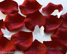 1000 BERRY RED SILK ROSE PETALS WEDDING FLOWER