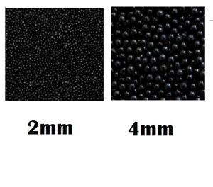 50g Black Sugar Pearls Dragees 2mm or 4mm Cake Decoration Cupcake Sprinkles