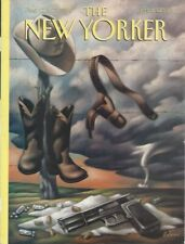 COVER ONLY ~ New Yorker magazine ~ BENNY  August 22 & 29 1994 ~Texas Gun Tornado