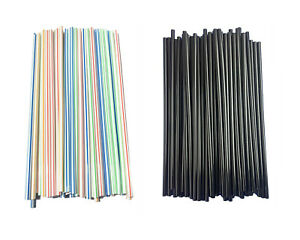 Disposable Plastic Straw Straight Plastic Drinking Straws Party Bulk Up to 5000