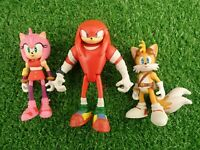 "Sonic The Hedgehog Toy Figures by Tomy Tails Knuckles & Amy Rose (Approx 3"")"