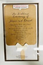 New Box 50 Wedding Ceremony Printable Program Kit cardstock with stick & ribbon