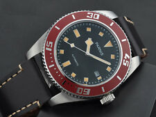 Parnis 43mm mechanical steel MIYOTA automatic sapphire Mens Red Bezel Watch 1231