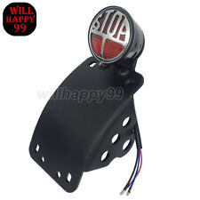 Side Mounted Curved License Plate Bracket Tail Light for Harley-Davidson BMW KTM