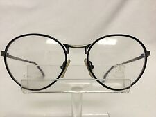 Vintage Euroline Exclusive SOHO 3 Eyeglasses Sunglasses Black Pewter Round Retro