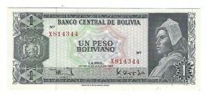 Bolivia - One (1) Peso Boliviano, 1962