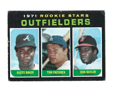 1971 Topps Rookie Stars Outfielders #709 Dusty Baker Don Baylor RC SEE CONDITION
