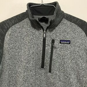PATAGONIA Mens Medium Better Sweater 1/4 zip pullover Fleece Jacket Gray