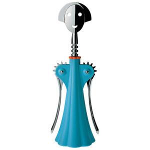 """Cavatappi Alessi  """"Anna G. -AZ"""", design A. Mendini, colore azzurro"""