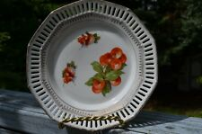"ANTIQUE C S SCHUMANN BAVARIA 7"" DECORATIVE PLATE WITH RETICULATED EDGE."