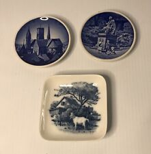 Set of 3 Denmark Blue & White Mini Wall Plates - Copenhagen Anderson Domkirke