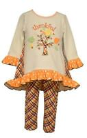 Bonnie Jean Baby Girls' Autumn Thanksgiving Knit Tunic and Leggings Set New