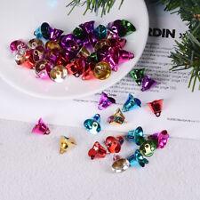 50 Mixed Color Christmas Jingle Bells Charms Pendants 16mm for Craft DIY *tr