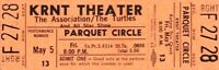 THE ASSOCIATION / THE TURTLES 1967 UNUSED KRNT CONCERT TICKET NMT 2 MINT / No. 3