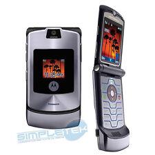 Motorola MOTORAZR V3i PLATA Desbloqueado Teléfono móvil PUEDE Para GARANTÍA 3