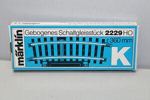Märklin 2229 Bent Switching Track K Track Gauge H0 Boxed