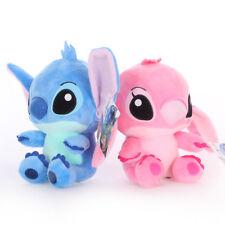 2Pcs 20cm Sit Size So Cute Adorable Color Blue&Pink Stitch Plush Toy New