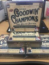 2020 UPPER DECK GOODWIN CHAMPIONS HOBBY BOX Factory Sealed