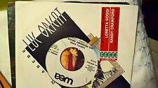 "7"" PROMO + STRIP LORETTA GOGGI IL MIO PROSSIMO AMORE RANDY CRAWFORD YOU MIGHT..."