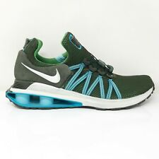 Nike Mens Shox Gravity AR1999-300 Green Grey Running Shoes Lace Up Size 11.5