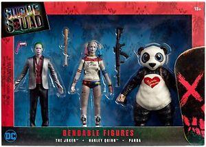 Suicide Squad Bendable PVC Action Figures The Joker Harley Quinn Panda