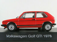 DeAGOSTINI #02 VW Golf I GTI (1978) in rot 1:43 NEU/PC-Vitrine